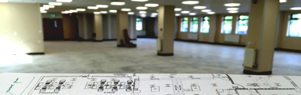 Commercial office fit-out space planning